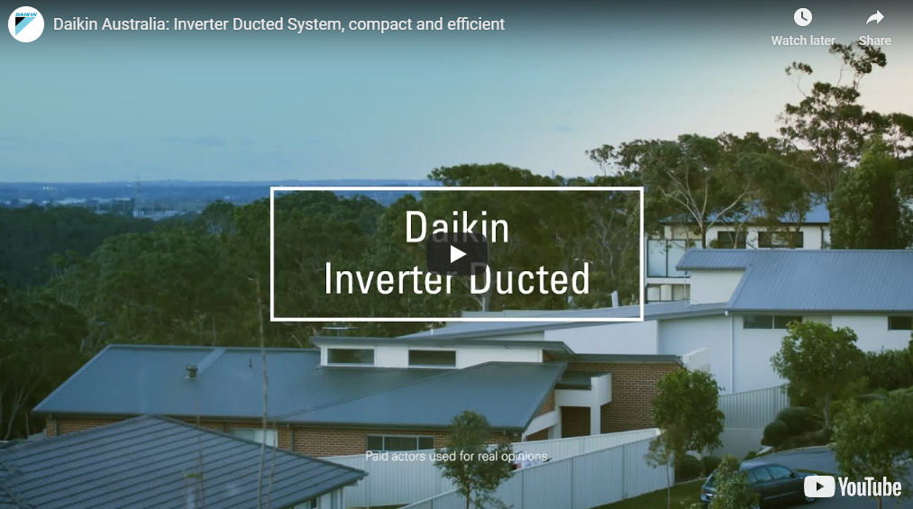 Daikin ducted inverter video